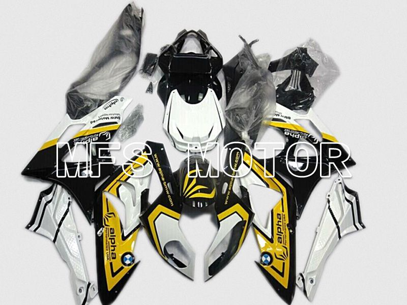 Injection ABS Fairing til BMW S1000RR 2009-2014 - Fabriksstil - Sort Gul Blå - MFS4484 - Shopping og engros