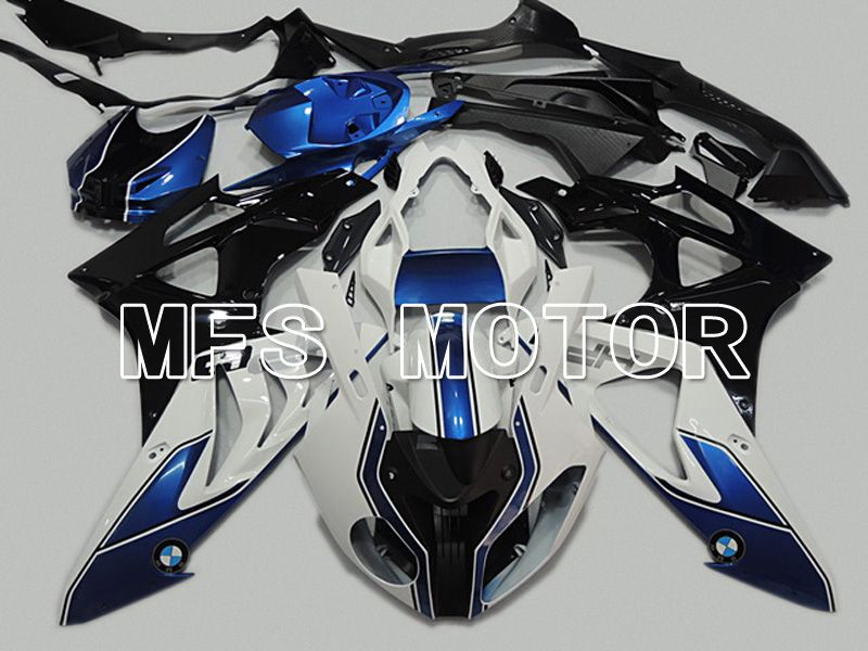 Injection ABS Fairing för BMW S1000RR 2009-2014 - Fabriksstil - Svart Vit Blå - MFS4488 - Shopping och grossist
