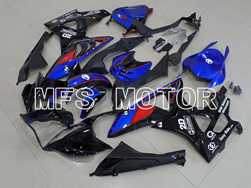 Injection ABS Fairing för BMW S1000RR 2009-2014 - Fabriksstil - Svart Blå - MFS4491 - Shopping och grossist