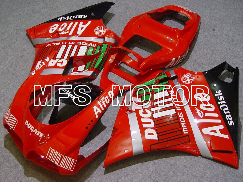 Injection ABS Fairing For Ducati 748 / 998 / 996 1994-2002 - Alice - Svart Rød - MFS4550 - Shopping og engros