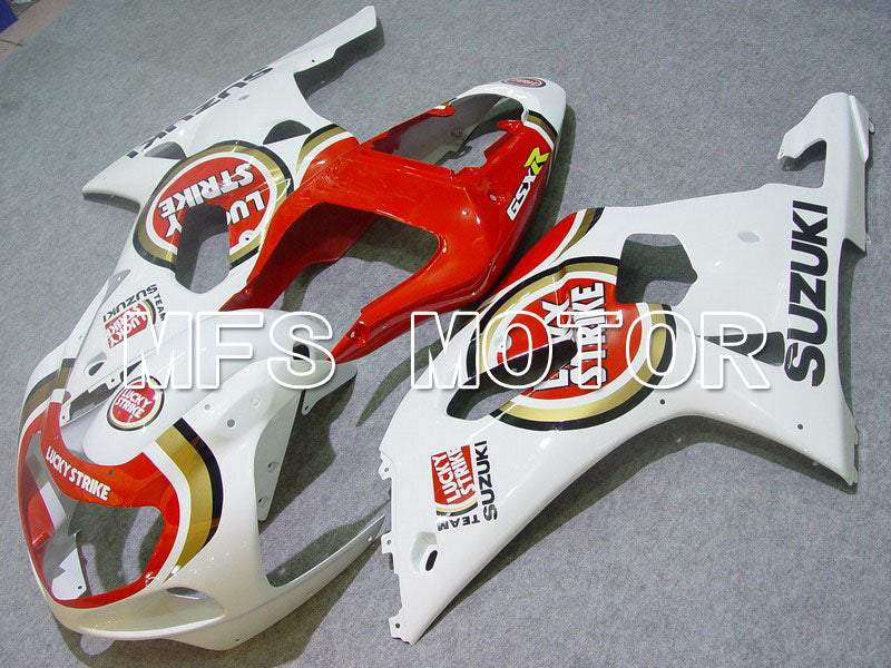 Injection ABS Fairing For Suzuki GSXR600 2001-2003 - Lucky Strike - Rødhvide - MFS4561 - Shopping og engros