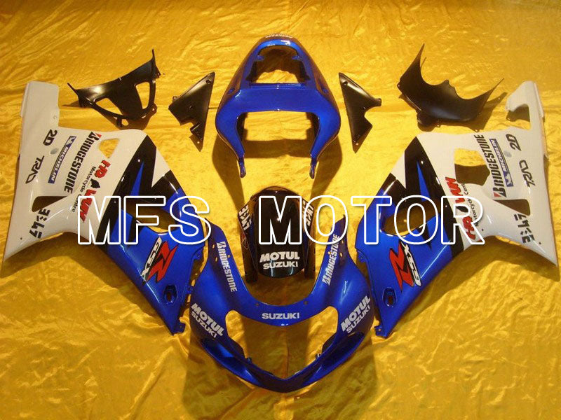 Injection ABS Fairing For Suzuki GSXR600 2001-2003 - MOTUL - Hvid Blå - MFS4567 - Shopping og engros
