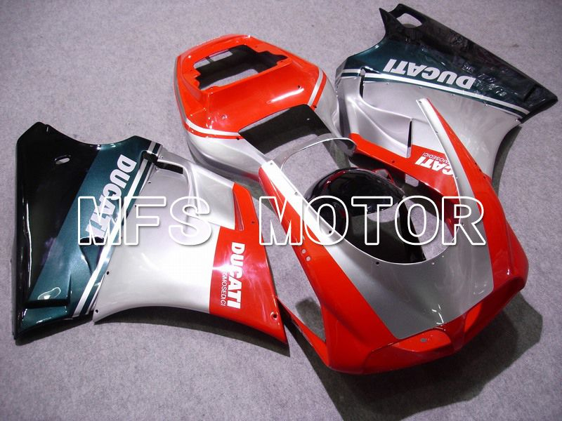 Injection ABS Fairing For Ducati 748 / 998 / 996 1994-2002 - Fabrikkstil - Rød Sølv - MFS4583 - Shopping og engros