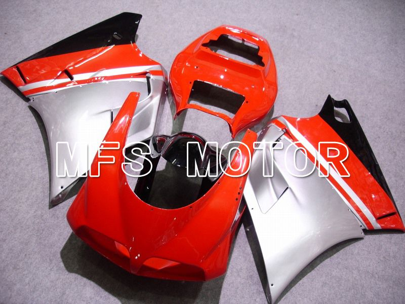 Injection ABS Fairing For Ducati 748 / 998 / 996 1994-2002 - Fabrikkstil - Rød Sølv - MFS4587 - Shopping og engros