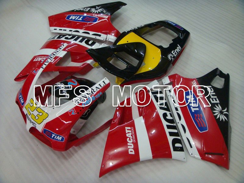 Injection ABS Fairing For Ducati 748 / 998 / 996 1994-2002 - Factory Style - Red White - MFS4593 - shopping and wholesale