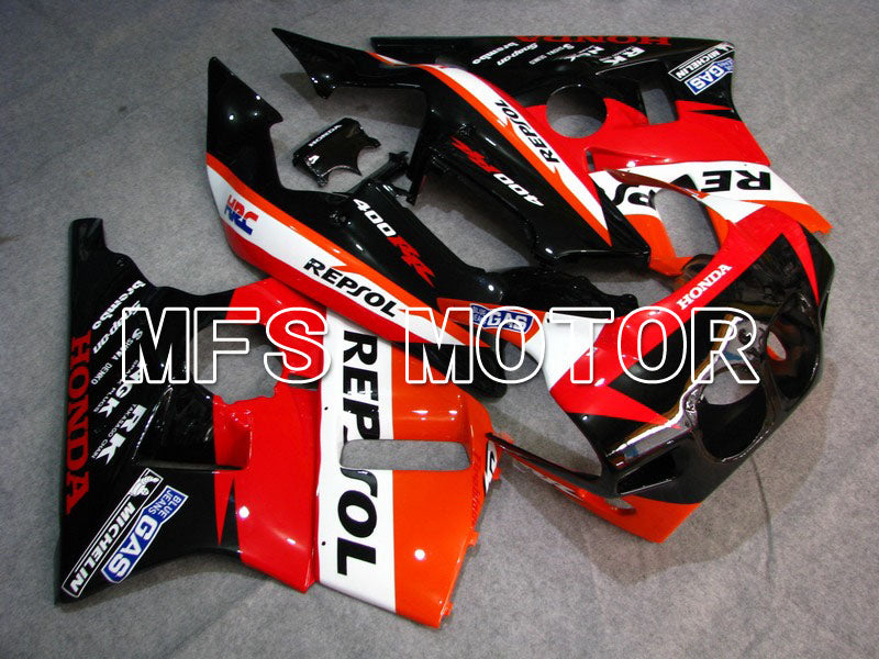 ABS Fairing For Honda CBR 400RR NC23 1988-1989 - Repsol - Red Orange Black - MFS4604 - shopping and wholesale