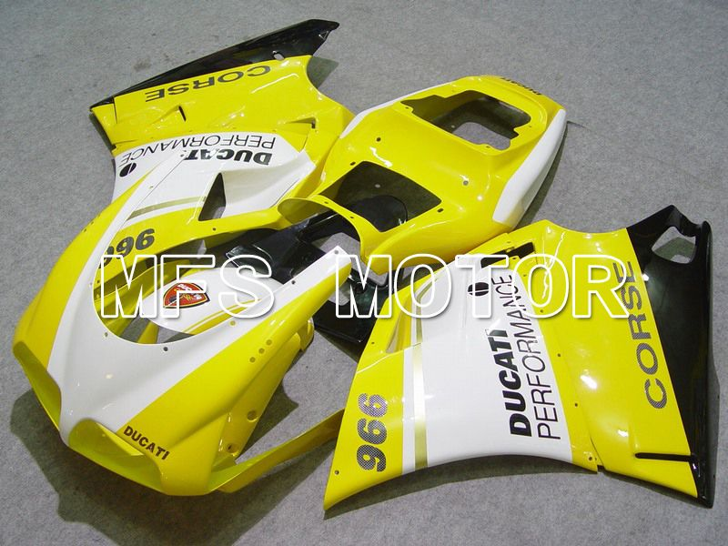 Injection ABS Fairing For Ducati 748 / 998 / 996 1994-2002 - Ytelse - Gul Hvit - MFS4607 - Shopping og engros