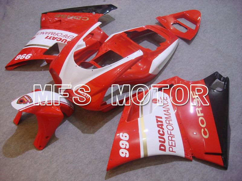 Injection ABS Fairing For Ducati 748 / 998 / 996 1994-2002 - Ytelse - Rødt Hvitt - MFS4608 - Shopping og engros