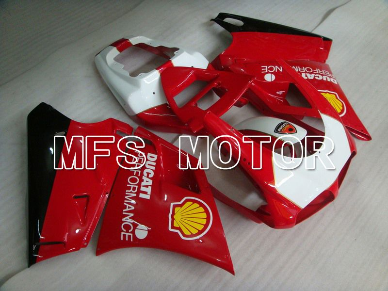 Injection ABS Fairing For Ducati 748 / 998 / 996 1994-2002 - Ytelse - Rødt Hvitt - MFS4613 - Shopping og engros