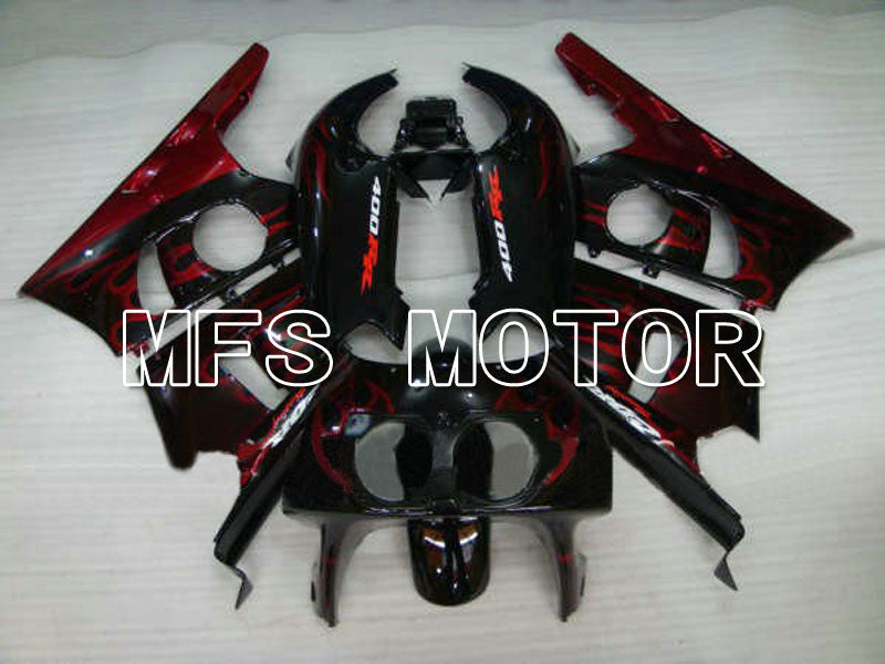 ABS Fairing For Honda CBR 400RR NC29 1990-1999 - Flame - Red Wine Color Black - MFS4625 - shopping and wholesale