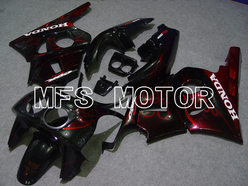 ABS Fairing For Honda CBR 400RR NC29 1990-1999 - Flame - Red Wine Color Black - MFS4628 - shopping and wholesale