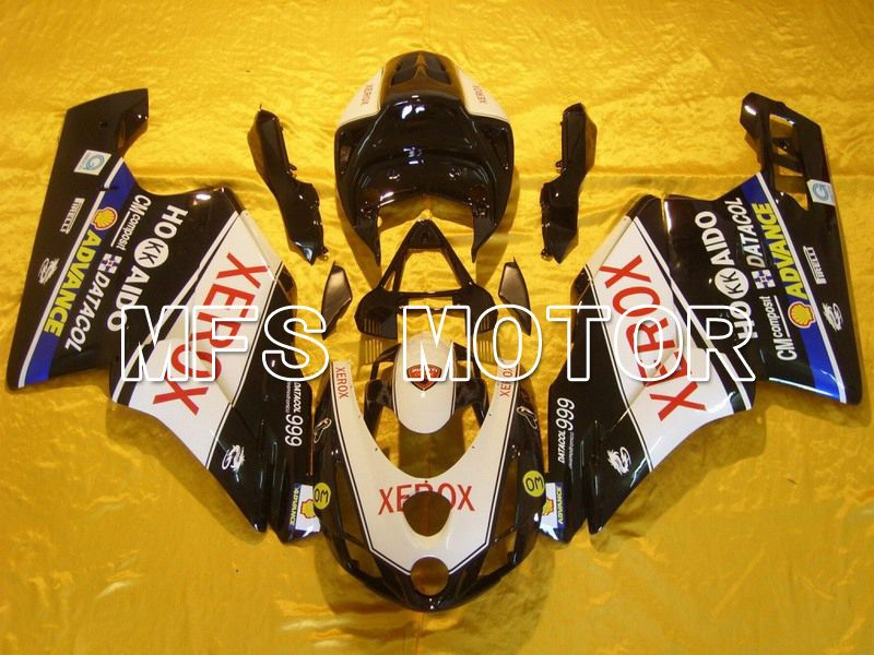 Injeksjon ABS Fairing For Ducati 749 / 999 2003-2004 - Xerox - Sort Hvit - MFS4662 - Shopping og engros
