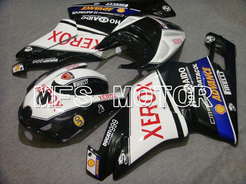 Injeksjon ABS Fairing For Ducati 749 / 999 2003-2004 - Xerox - Sort Hvit - MFS4666 - Shopping og engros