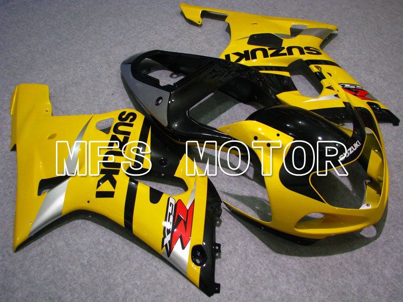 Injection ABS Fairing For Suzuki GSXR600 2001-2003 - Fabriksstil - Sort Gul - MFS4670 - Shopping og engros