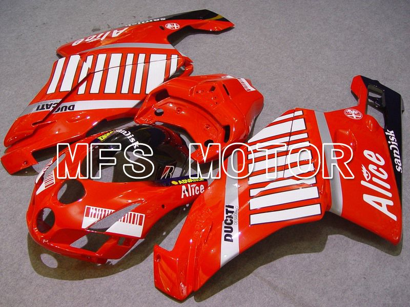 Injection ABS carénage pour Ducati 749 / 999 2005-2006 - Alice - Rouge Blanc - MFS4672 - Shopping et gros
