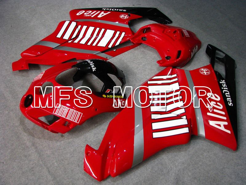 Injection ABS carénage pour Ducati 749 / 999 2005-2006 - Alice - Rouge Blanc - MFS4675 - Shopping et gros
