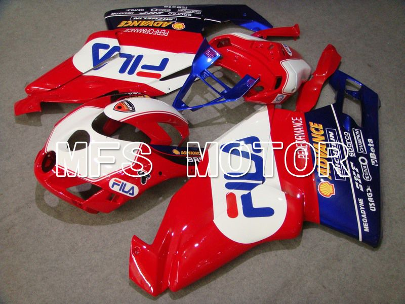 Injection ABS Fairing For Ducati 749 / 999 2005-2006 - FILA - Rød Hvit - MFS4704 - Shopping og engros