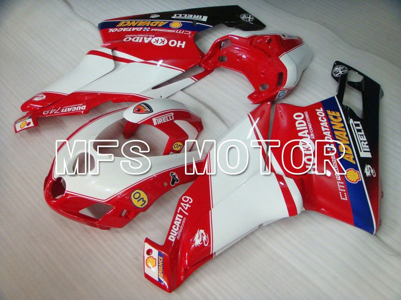 Carénage ABS d'Injection pour Ducati 749 / 999 2005-2006 - Xerox - Rouge Blanc - MFS4719 - Shopping et gros