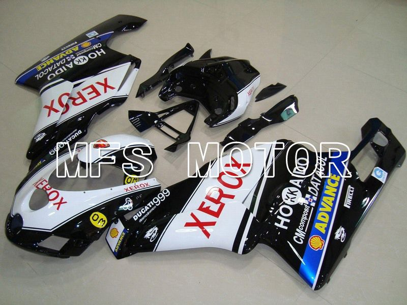 Injeksjon ABS Fairing For Ducati 749 / 999 2005-2006 - Xerox - Sort Hvit - MFS4721 - Shopping og engros