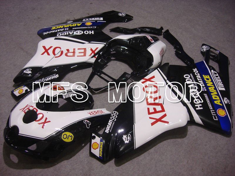 Injeksjon ABS Fairing For Ducati 749 / 999 2005-2006 - Xerox - Sort Hvit - MFS4722 - Shopping og engros