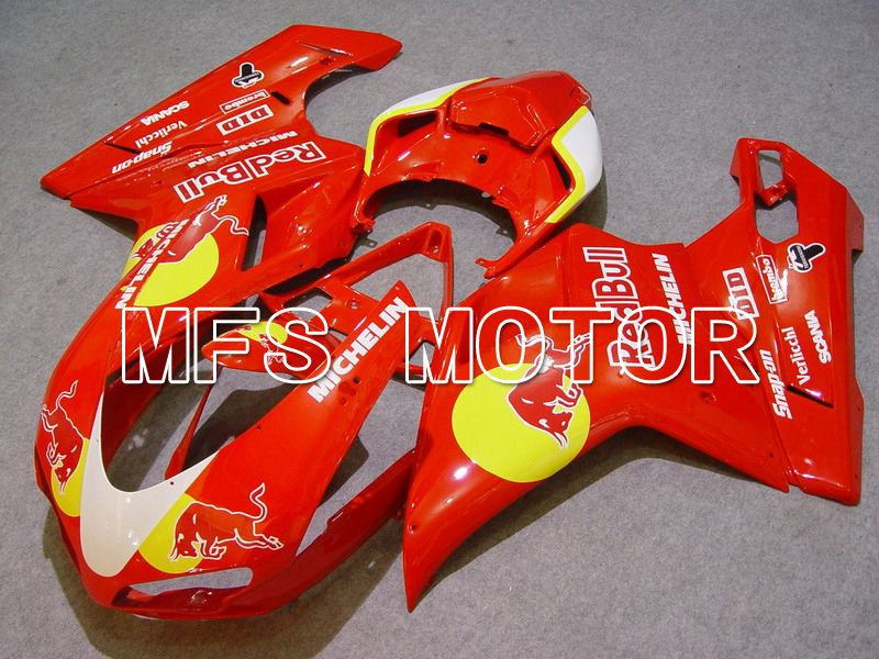 Injection ABS Fairing For Ducati 848 / 1098 / 1198 2007-2011 - Red Bull - Rød - MFS4767 - Shopping og engros