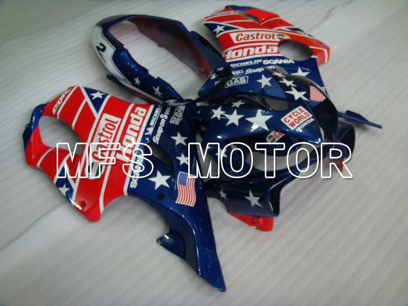 Injection ABS Fairing For Honda CBR600 F4i 2004-2007 - Castrol - Blå Rød - MFS4769 - Shopping og engros