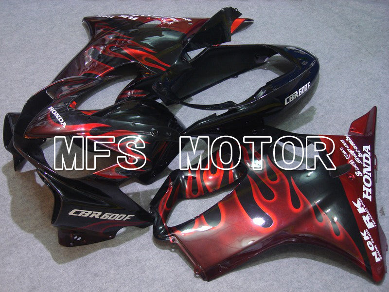 Injection ABS Fairing For Honda CBR600 F4i 2004-2007 - Flame - Black Red - MFS4770 - shopping and wholesale