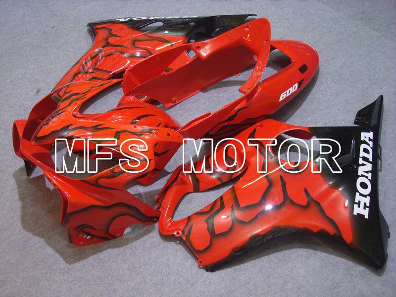 Injection ABS Fairing For Honda CBR600 F4i 2004-2007 - Flame - Black Orange - MFS4771 - shopping and wholesale
