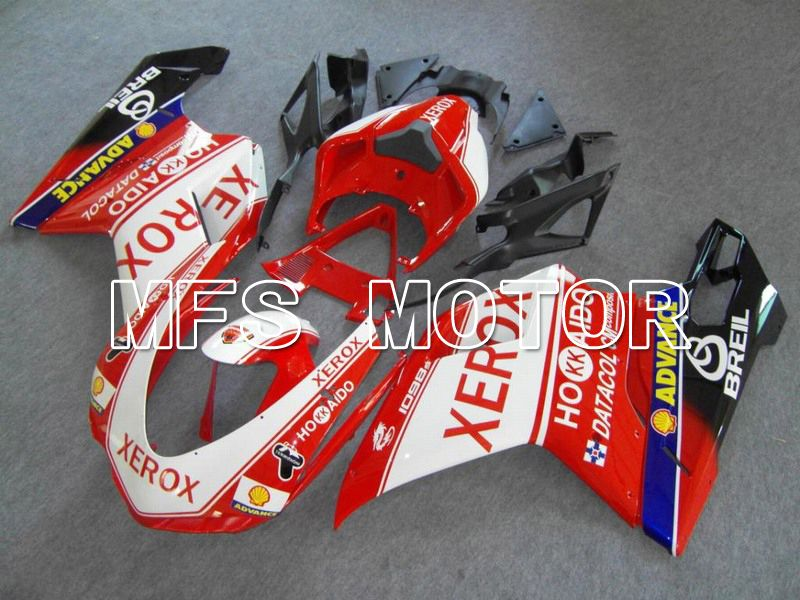 Injection ABS Fairing For Ducati 848 / 1098 / 1198 2007-2011 - Xerox - Rødhvitt - MFS4775 - shopping og engros
