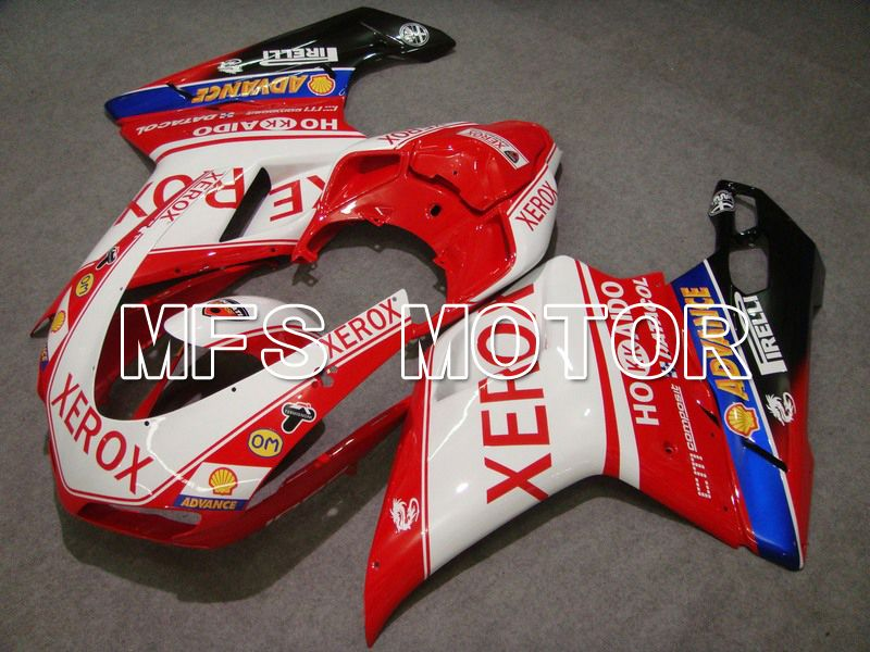 Injection ABS Fairing For Ducati 848 / 1098 / 1198 2007-2011 - Xerox - Rødhvitt - MFS4781 - shopping og engros