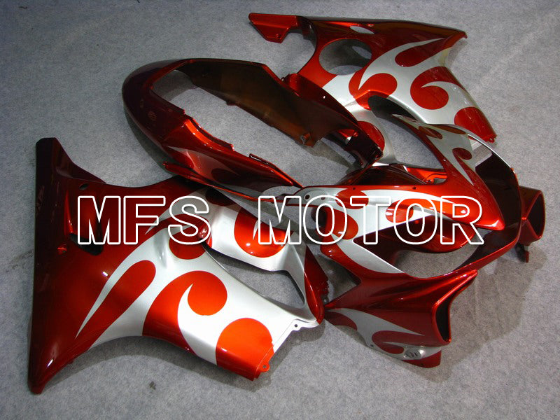 Injection ABS Fairing For Honda CBR600 F4i 2004-2007 - Andre - Rød Sølv - MFS4785 - Shopping og engros