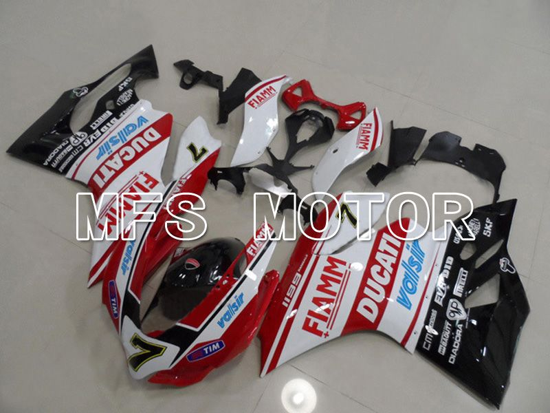Injection ABS Fairing For Ducati 1199 2011-2014 - FIAMM - Rød Hvit - MFS4798 - Shopping og engros