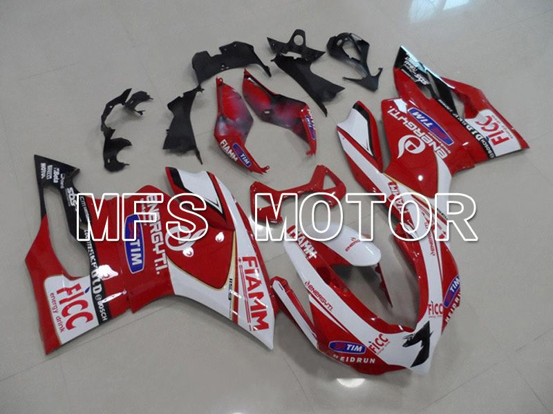 Injection ABS Fairing For Ducati 1199 2011-2014 - FIAMM - Rød Hvit - MFS4799 - Shopping og engros