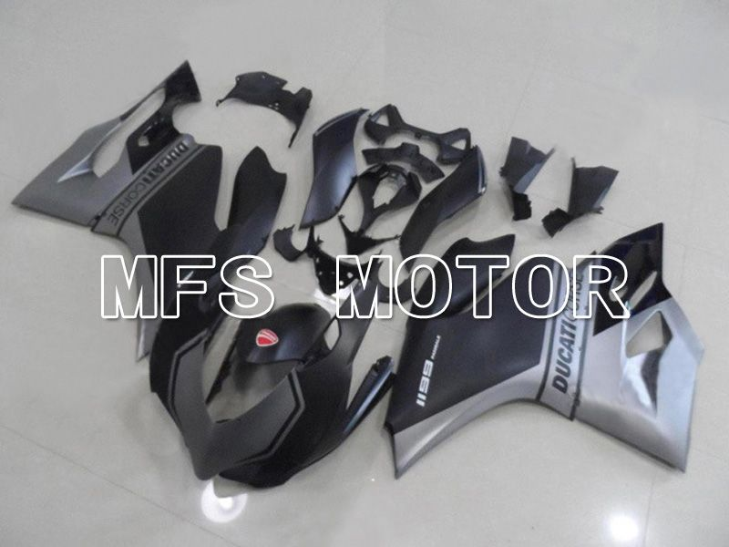 Injection ABS Fairing For Ducati 1199 2011-2014 - Factory Style - Black Gray Matte - MFS4801 - shopping and wholesale