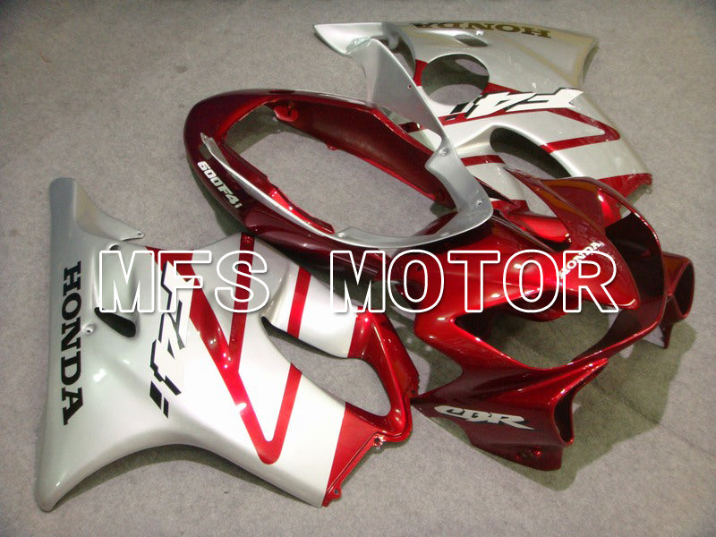 Injection ABS Fairing For Honda CBR600 F4i 2004-2007 - Factory Style - Red Wine Color White - MFS4820 - shopping and wholesale