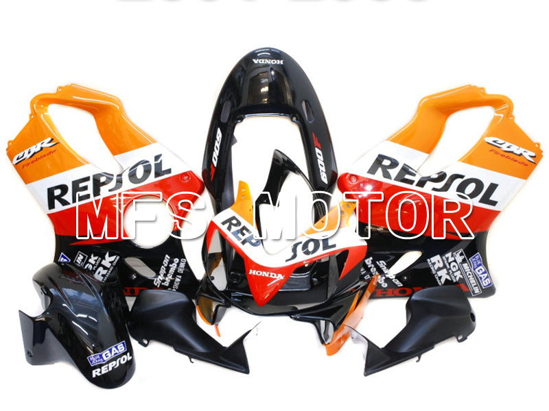Injection ABS Fairing For Honda CBR600 F4i 2004-2007 - Repsol - Svart Rød Oransje - MFS4826 - Shopping og engros