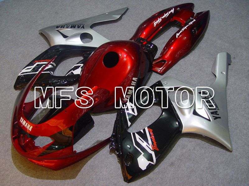 Injection ABS Fairing For Yamaha YZF-600R 1997-2007 - Factory Style - Red Wine Color Black Silver - MFS4843 - shopping and wholesale