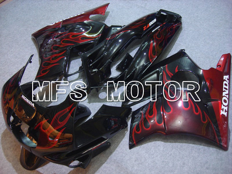 ABS Fairing For Honda CBR600 F2 1991-1994 - Flamme - Sort Rød - MFS4870 - Shopping og engros