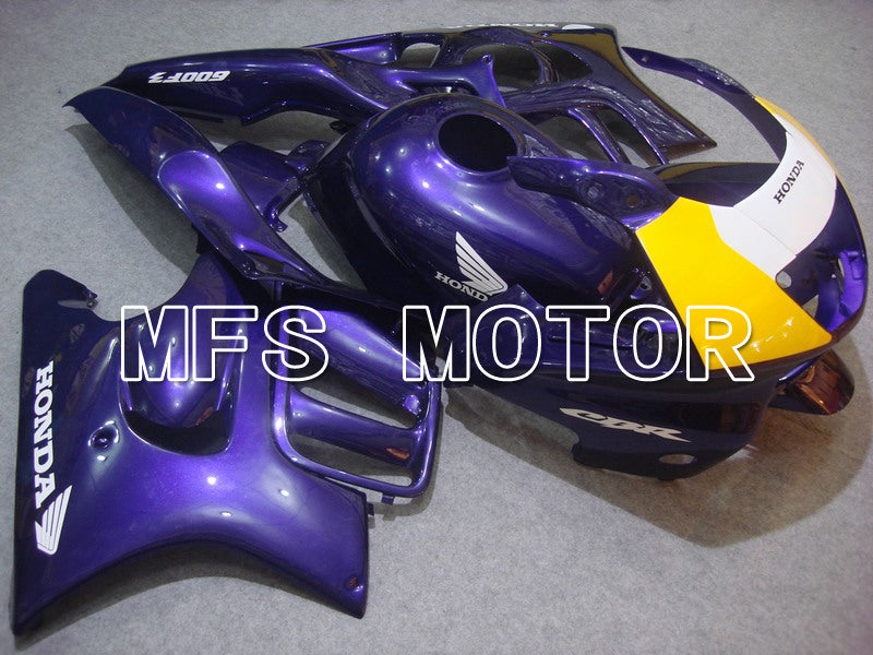 Injection ABS Fairing For Honda CBR600 F3 1997-1998 - Fabriksstil - Lilla Gul - MFS4996 - Shopping og engros