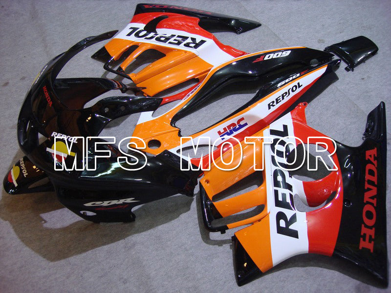 Injection ABS Fairing For Honda CBR600 F3 1997-1998 - Repsol - Sort Orange Rød - MFS5015 - Shopping og engros