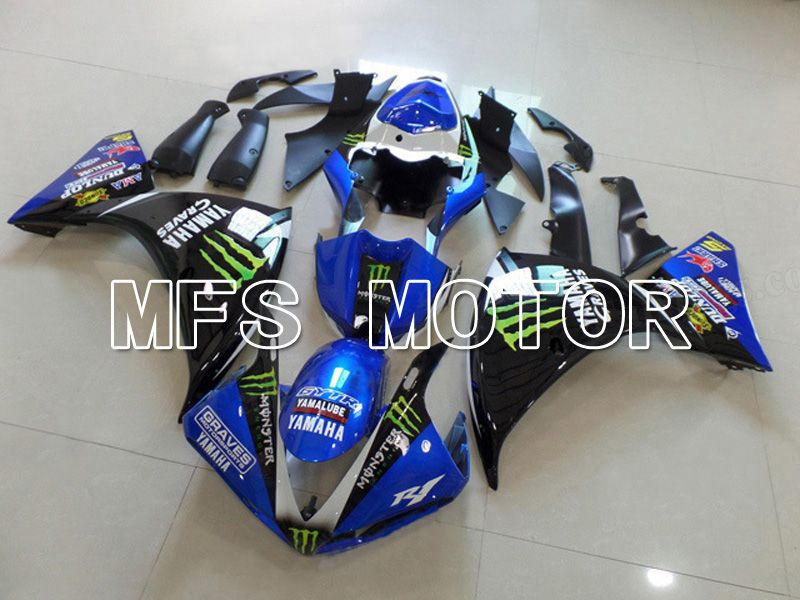 Injection ABS Fairing For Yamaha YZF-R1 2009-2011 - Monster - Black Blue - MFS5127 - shopping and wholesale
