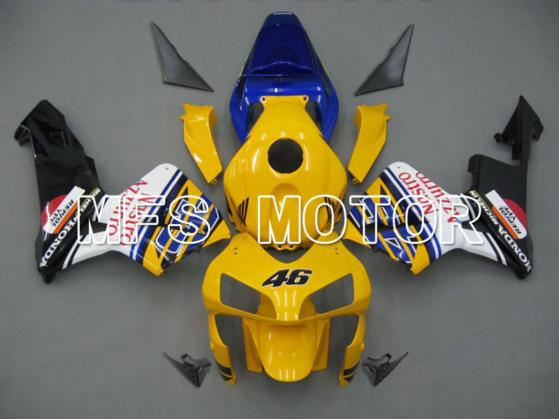 Injection ABS Fairing For Honda CBR600RR 2003-2004 - Nastro Azzurro - Gul Svart - MFS5259 - Shopping og engros