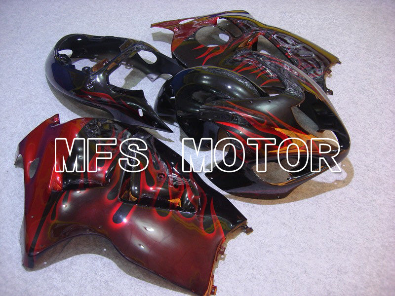 Injection ABS Fairing For Suzuki GSXR1300 Hayabusa 1999-2007 - Flame - Black Red - MFS5334 - shopping and wholesale