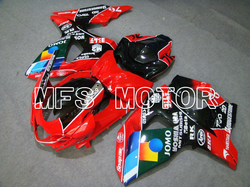 Injection ABS Fairing For Suzuki GSXR1000 2009-2016 - JOMO - Black Red - MFS5727 - shopping and wholesale