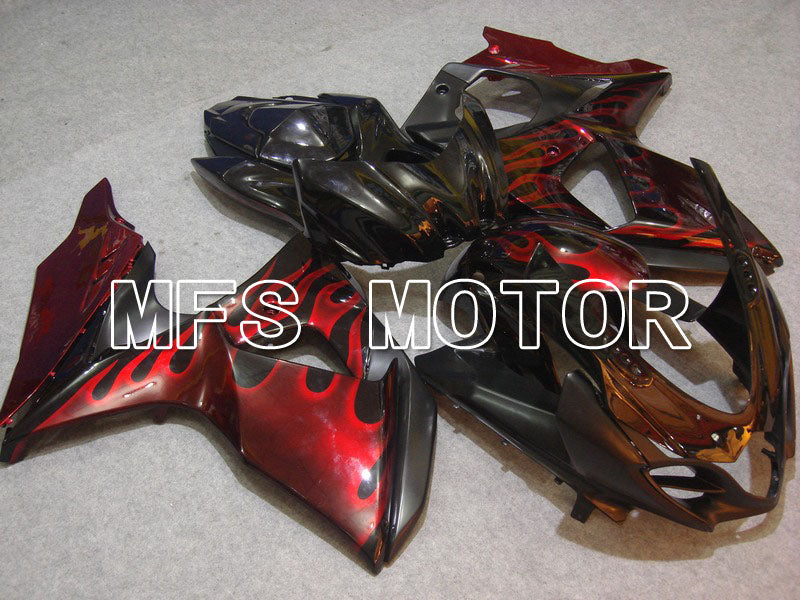 Injection ABS Fairing For Suzuki GSXR1000 2009-2016 - Flame - Black Red - MFS5729 - shopping and wholesale