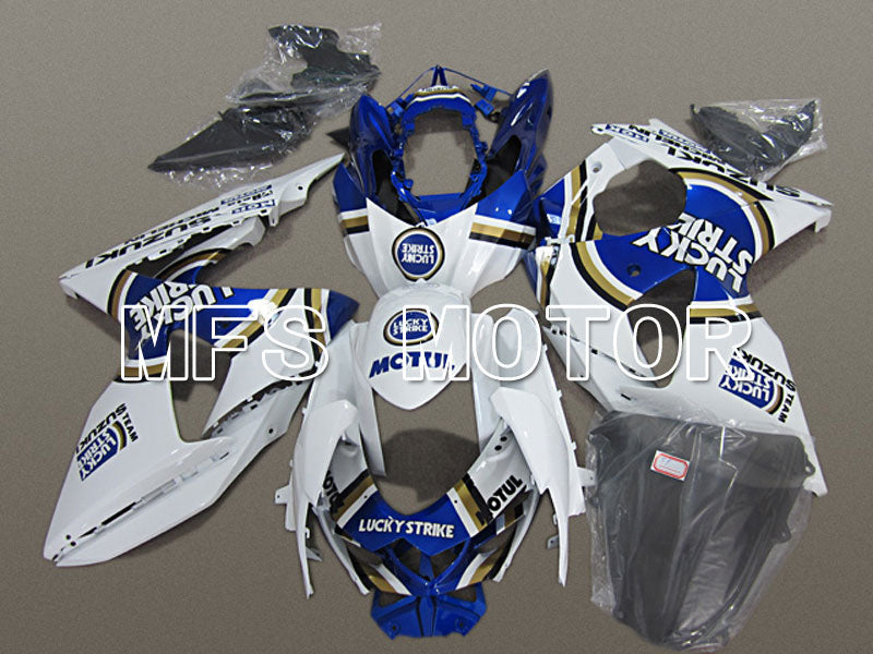 Injection ABS Fairing For Suzuki GSXR1000 2009-2016 - Lucky Strike - White Blue - MFS5753 - shopping and wholesale