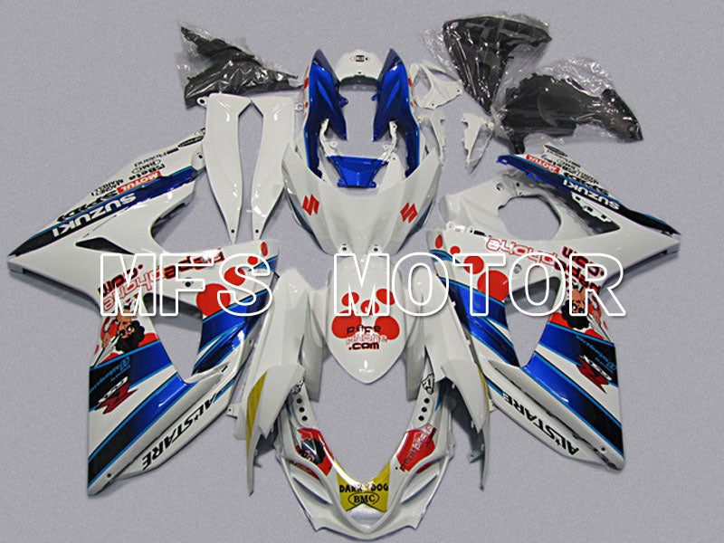 Injection ABS Fairing For Suzuki GSXR1000 2009-2016 - Dark Dog - White Blue - MFS5755 - shopping and wholesale
