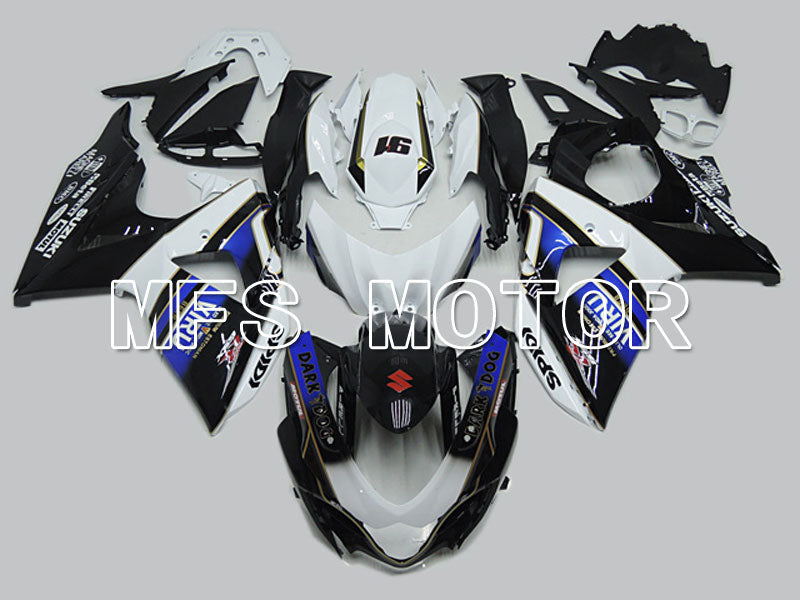 Injection ABS Fairing For Suzuki GSXR1000 2009-2016 - Dark Dog - Black White Blue - MFS5756 - shopping and wholesale