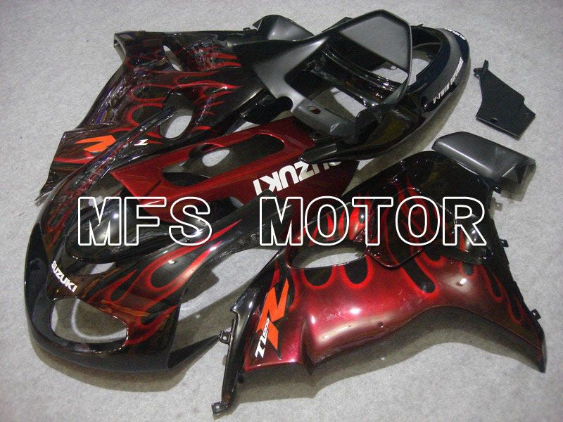 Injection ABS Fairing For Suzuki TL1000R 1998-2003 - Flamme - Rød Sort - MFS5806 - Shopping og engros