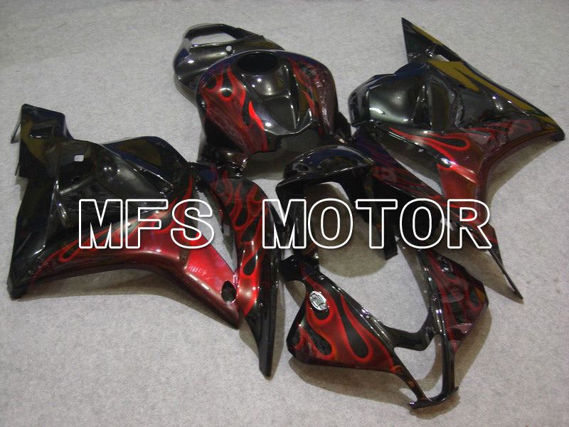 Injection ABS Fairing For Honda CBR600RR 2009-2012 - Flame - Red Black - MFS5838 - shopping and wholesale